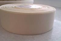 Лента репсовая 2,5 см кремовая (молочная), фото 1