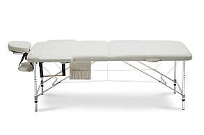 Массажный стол BodyFit XL 2 сегментный, бежевий, алюминиевый, фото 2
