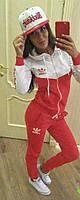 Спортивный костюм с капюшоном на змейке adidas