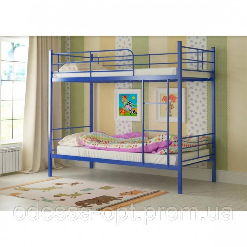 Двоярусне ліжко металеве