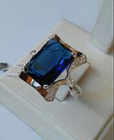 Серебряное кольцо со втавками золота