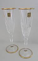 Набор бокалов для шампанского Melodia с золотом