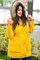 Куртка парка зимняя с капюшоном