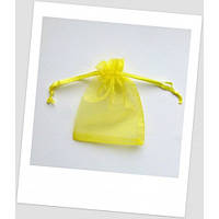Мешочек из органзы ювелирный 7х 9 см ярко-желтый.