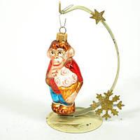 Новогодняя игрушка А 157 Обезьяна с мороженным