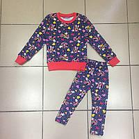 Детская одежда оптом Детская Пижама  с начесом оптом р.3-6 лет