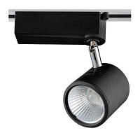 Светодиодный трековый светильник WestLight 12W черный, теплый свет