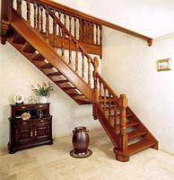 Лестница деревянная на тетивах
