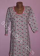 Теплая ночная рубашка для кормящих мам