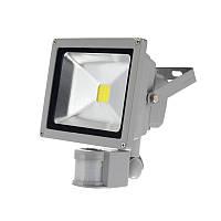 Прожектор светодиодный 10W с датчиком движения Sensor белый холодный