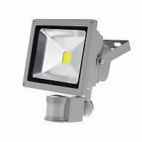 Прожектор светодиодный 20W с датчиком движения Sensor белый холодный