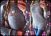 Женский теплый свитер Шанель ЕЛ 95-NW