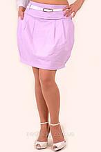 Лляна спідниця , лавандова жіноча (Ю 049)