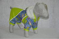 Комбинезон с капюшоном на овчинно-меховой подкладке Карапуз 28*60 мопс
