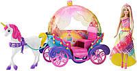 Игровой набор Barbie Радужная принцесса с каретой и единорогом / Comabi Distribution Barbie Dreamtopia Rainbow