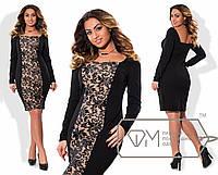 Нарядное женское платье с вышивкой и пайеткой  размер 48-54