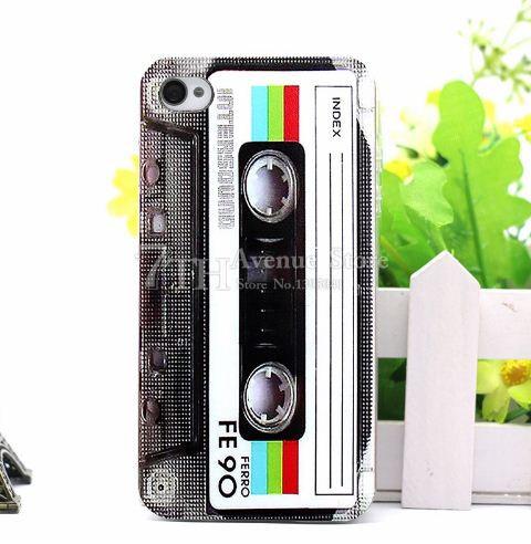 Силиконовый чехол бампер для Iphone 6plus / 6s plus с картинкой Кассета