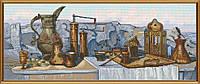 Наборы для вышивания нитками на канве с фоновым рисунком Кофе по-восточному СР 3204