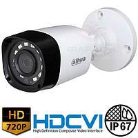 Цилиндрическая HDCVI видеокамера Dahua DH-HAC-HFW1000R-S3