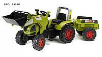 Трактор на педалях с ковшем и прицепом Claas Arion 540 Falk