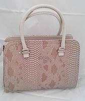Каркасная сумка B.Elit, рептилия, кремовая, фото 1