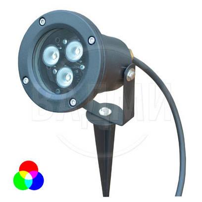 Садово-парковый LED RGB фонарь G3L-RGB, многоцветный, M-TEK