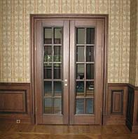 Дверь межкомнатная двухстворчатая массив ясень