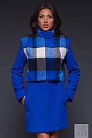 Женское пальто с сьемным балеро на подкладке, фото 1