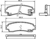 Колодки задние дисковые NISSAN 100,ALMERA,MAXIMA QX,PRIMERA,SUNNY N14 +ABS 90- 4406058Y86