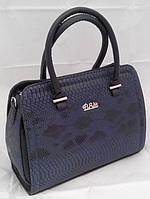 Синяя каркасная женская сумка B.Elit, рептилия