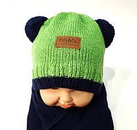 Комплект: шапка+шарф на мальчика 40-42 р Польша Agbo.