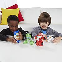 Трансформеры боты  Playskool Heroes Transformers Rescue Bots Griffin Rock Rescue Team
