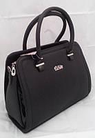 Каркасная сумка B.Elit, чёрная с лаковыми вставками