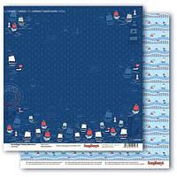 Бумага ScrapBerry's, Морские приключения - Тихая гавань, 30x30 см, 1 шт