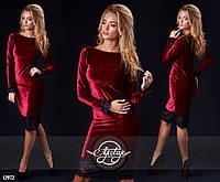 Нарядное платье из бархата 3 шикарных цвета