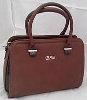 Каркасная сумка B.Elit, коричневая с лаковыми вставками