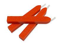 Сургуч с фитилем - Матовый оранжевый, сечение прямоугольник 1,2x1 см, длина 9 см