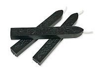 Сургуч с фитилем - Матовый черный, сечение прямоугольник 1,2x1 см, длина 9 см