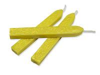 Сургуч с фитилем - Перламутровый желтый, сечение прямоугольник 1,2x1 см, длина 9 см