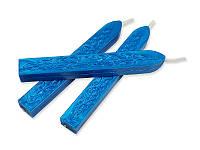 Сургуч с фитилем - Перламутровый синий, сечение прямоугольник 1,2x1 см, длина 9 см