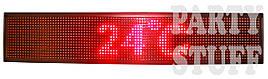 Бегущая строка светодиодная, красная (100х 20см)