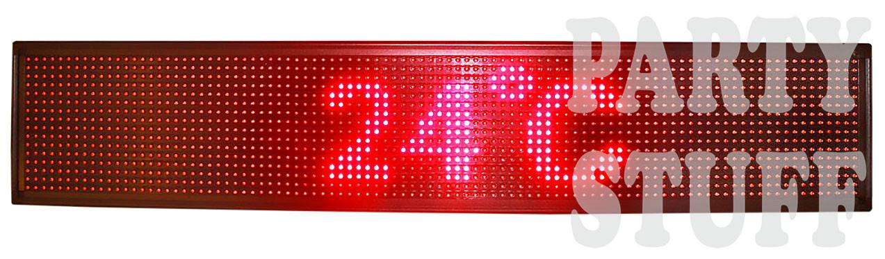 """Бегущая строка светодиодная, красная (100х 20см) - Магазин """"Party Stuff"""" в Харькове"""