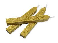 Сургуч с фитилем - Темное золото металлик, сечение прямоугольник 1,2x1 см, длина 9 см