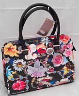 Каркасная сумка B.Elit, рептилия, цветочная