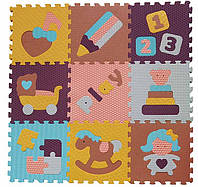 Детский коврик-пазл Baby Great Интересные игрушки (GB-M1601)