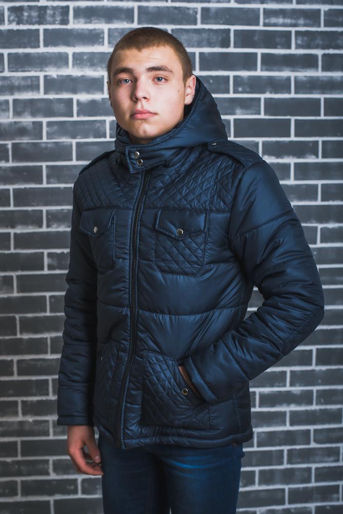 Мужская куртка зимняя темно-синяя