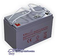 Гелева акумуляторна батарея KM Battery KM NPG 12-110 AH (110 А год), фото 1