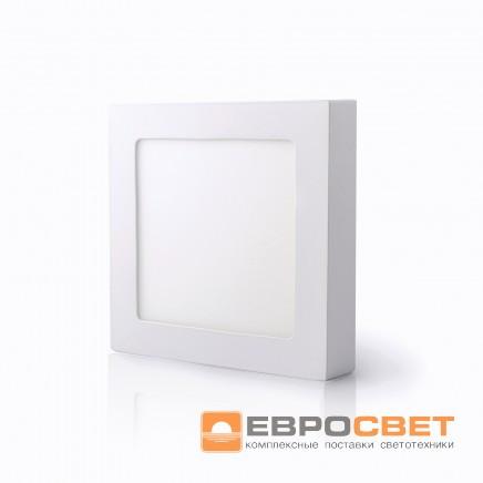 Светодиодный светильник LED-SS-120-6 6Вт 4200К квадрат накладной Евросвет
