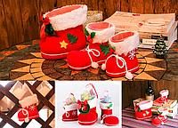 Новорічні чобітки під ялинку, для солодощів дітям