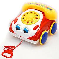 Развивающая игрушка Каталка Машинка телефон